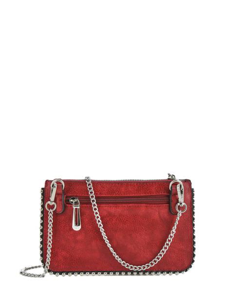 Sac Bandouliere Perle Miniprix Rouge perle H6738 vue secondaire 2