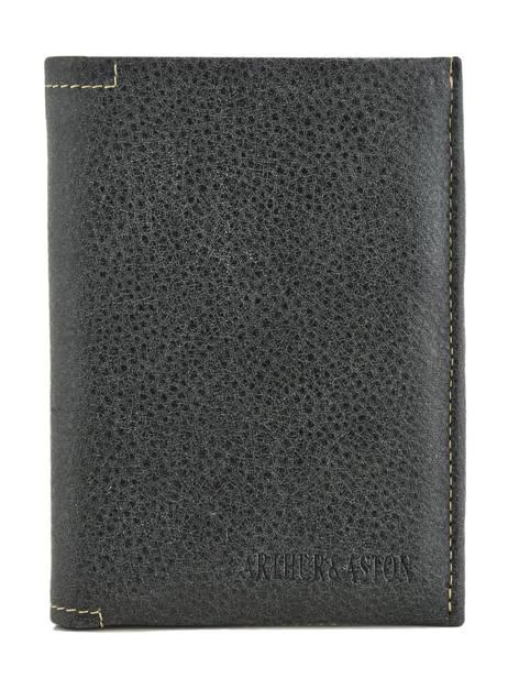 Wallet Leather Arthur et aston Black destroy 62-642