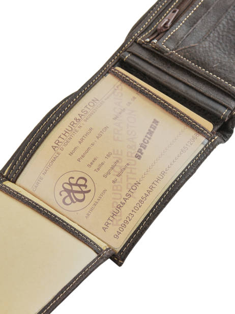 Wallet Leather Arthur et aston Black destroy 62-649 other view 3