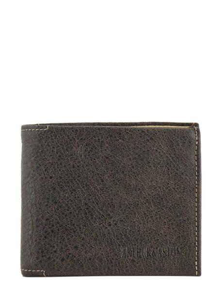 Wallet Leather Arthur et aston Black destroy 62-649