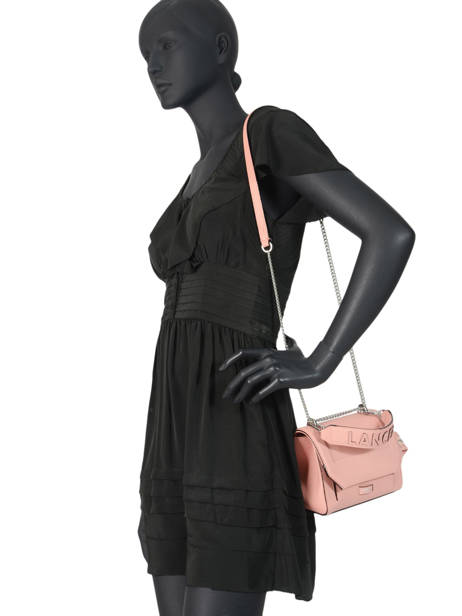 Top Handle S Ninon Leather Lancel Pink ninon A09221 other view 2