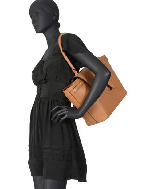 Large Leather Shoulder Bag Néo Charlie Lancel Brown neo charlie A10509 other view 2