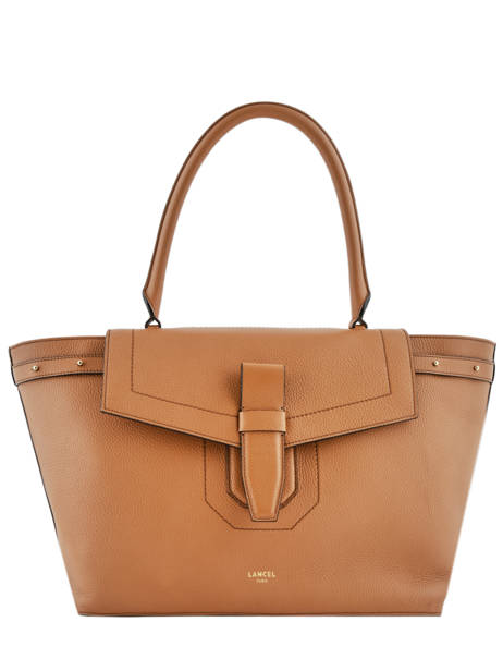 Large Leather Shoulder Bag Néo Charlie Lancel Brown neo charlie A10509