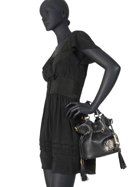 Small Leather Bucket Bag Premier Flirt Python Lancel Black premier flirt A10528 other view 5