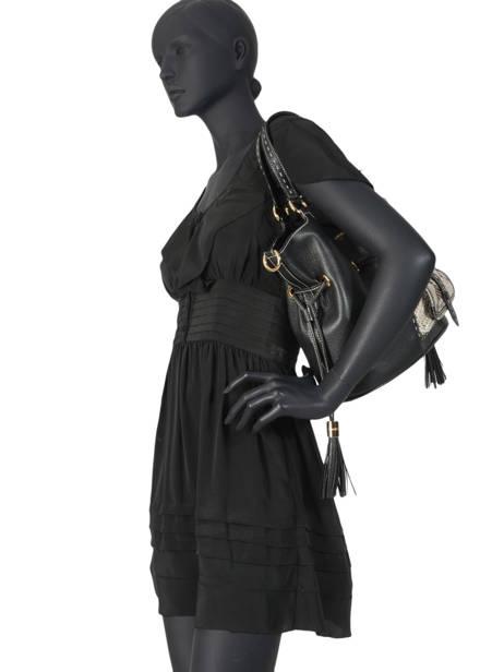 Medium Leather Bucket Bag Premier Flirt Python Lancel Black premier flirt A10529 other view 4