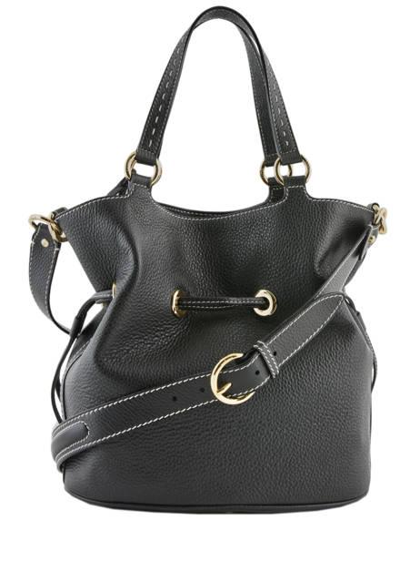 Medium Leather Bucket Bag Premier Flirt Python Lancel Black premier flirt A10529 other view 6