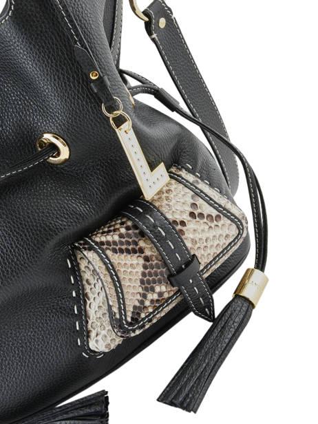 Medium Leather Bucket Bag Premier Flirt Python Lancel Black premier flirt A10529 other view 1