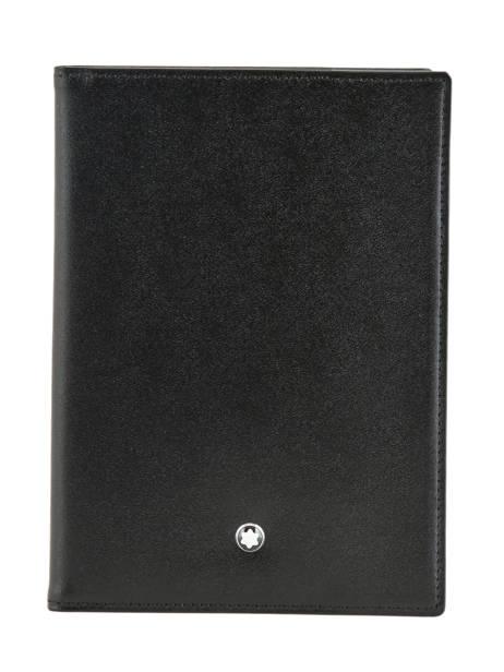 Leather Meisterstück Passport Holder Montblanc Black meisterstÜck 35285