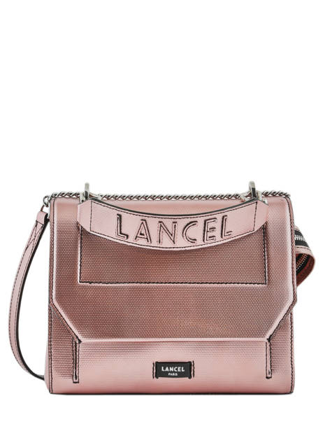 Medium Leather Handbag Ninon Lancel Pink ninon A10418