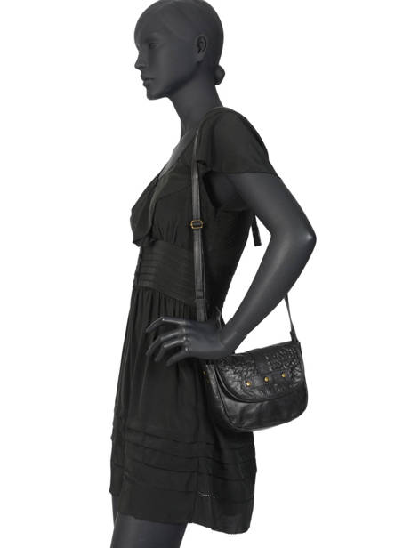 Leather Crossbody Bag Nelli Pieces Black nelli 17102053 other view 2