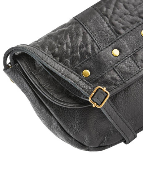 Leather Crossbody Bag Nelli Pieces Black nelli 17102053 other view 1