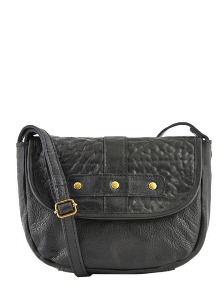 Leather Crossbody Bag Nelli Pieces Black nelli 17102053