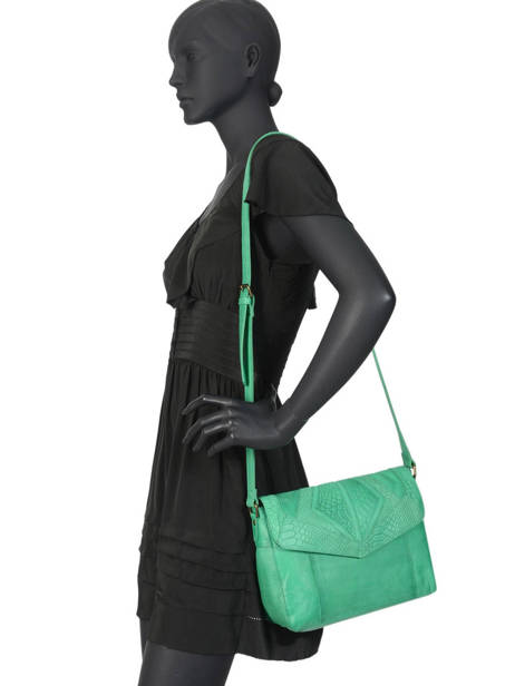 Leather Crossbody Bag Nelli Pieces Green nelli 17102058 other view 2