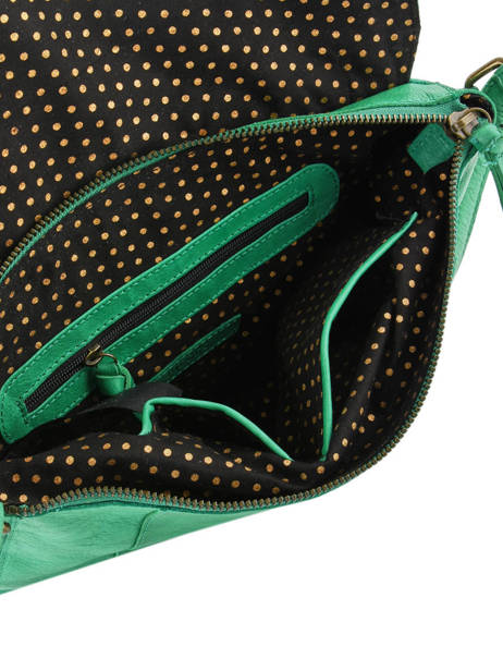 Leather Crossbody Bag Nelli Pieces Green nelli 17102058 other view 4