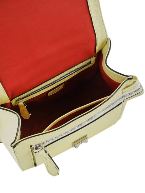 Top Handle M Ninon Leather Lancel Yellow ninon A09222 other view 4