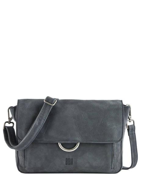 Leather Crossbody Bag Collins Biba Blue collins FORL5