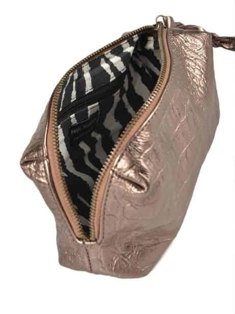 Case Vintage Leather Paul marius Beige caiman ADELECAI other view 3