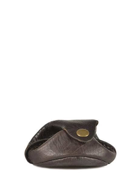 Purse Leather Paul marius Brown vintage ESCARCEL other view 1