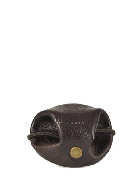 Purse Leather Paul marius Brown vintage ESCARCEL
