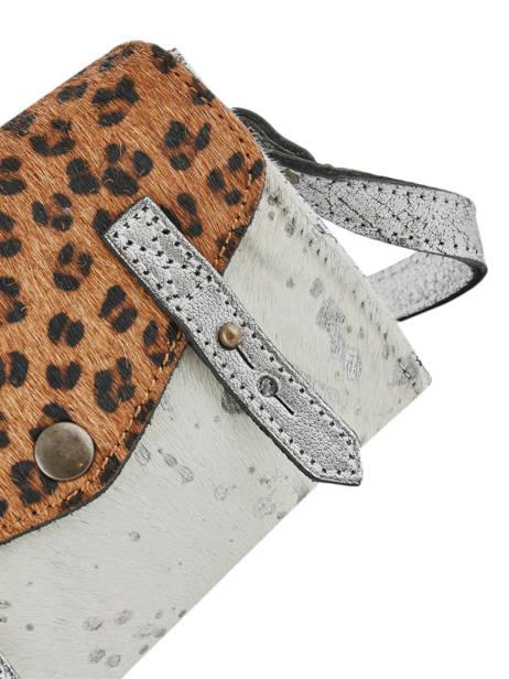 Leather Crossbody Bag Mini Leopard Paul marius Silver leopard MINILEO other view 1