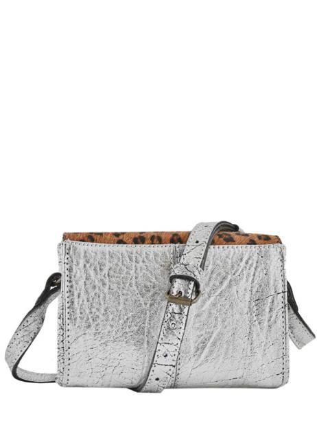 Leather Crossbody Bag Mini Leopard Paul marius Silver leopard MINILEO other view 3