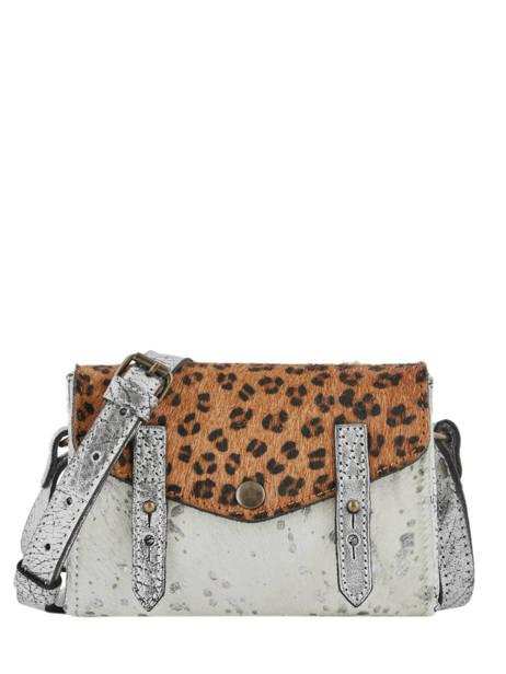 Leather Crossbody Bag Mini Leopard Paul marius Silver leopard MINILEO