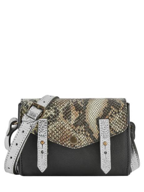 Crossbody Bag Python Paul marius Black python MINIPYT