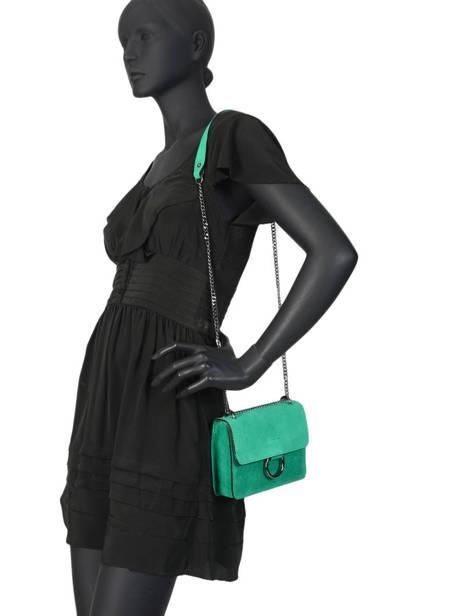 Shoulder Bag Velvet Milano Green velvet VE17111 other view 2