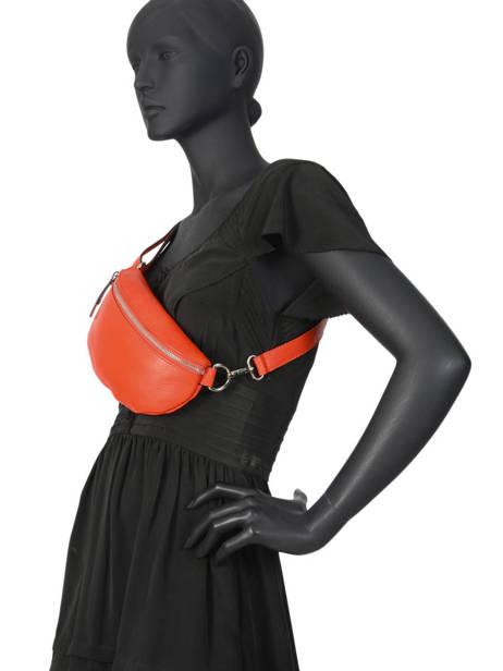 Leather Belt Bag Caviar Milano Orange CA19091 other view 1
