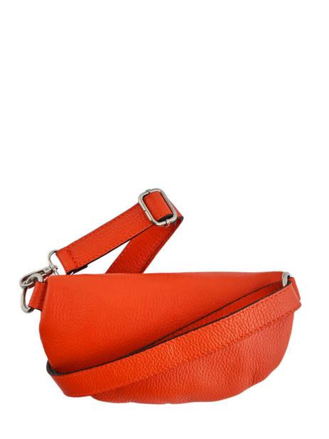 Leather Belt Bag Caviar Milano Orange CA19091 other view 2