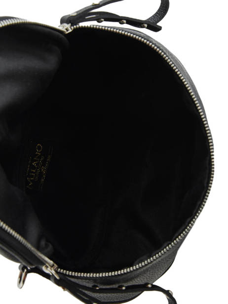 Leather Shoulder Bag Caviar Milano Black CA19115 other view 4