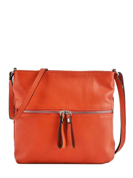 Crossbody Bag Leather Milano Orange CA19117