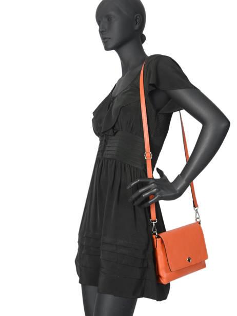 Shoulder Bag  Leather Milano Orange CA19034 other view 2