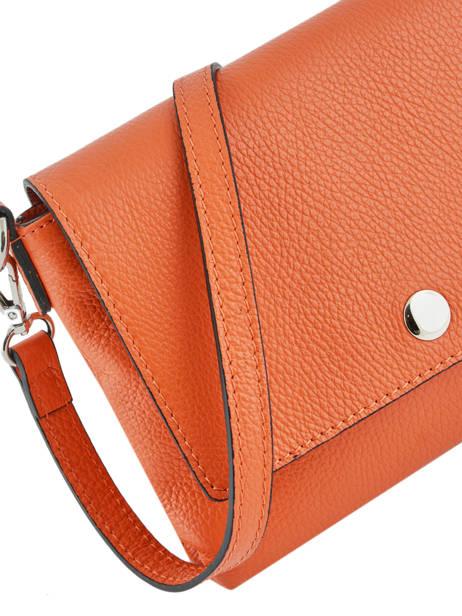 Shoulder Bag  Leather Milano Orange CA19034 other view 1