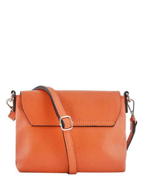 Shoulder Bag  Leather Milano Orange CA19034 other view 3