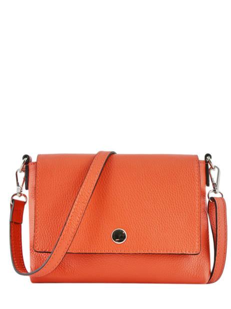Shoulder Bag  Leather Milano Orange CA19034