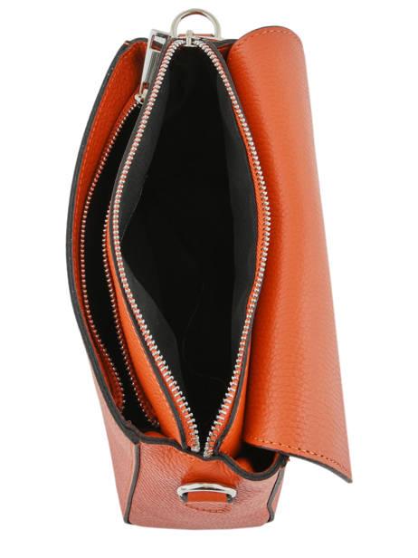 Sac Bandoulière Caviar Cuir Milano Orange caviar CA17068 vue secondaire 4