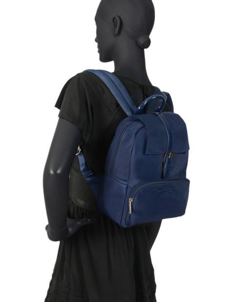 Backpack Lancaster Blue basic vernis 514-86 other view 2