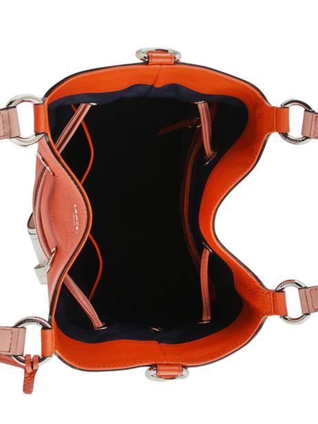 Sac Seau M Premier Flirt Bicolore Cuir Lancel Orange premier flirt A10596 vue secondaire 7