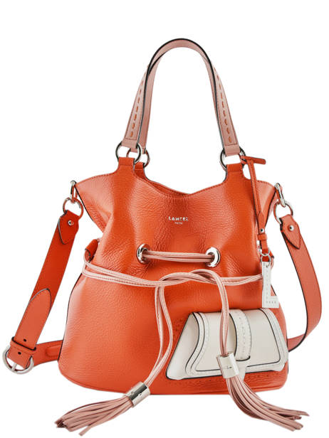 Sac Seau M Premier Flirt Bicolore Cuir Lancel Orange premier flirt A10596 vue secondaire 3