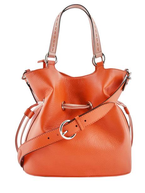 Sac Seau M Premier Flirt Bicolore Cuir Lancel Orange premier flirt A10596 vue secondaire 6