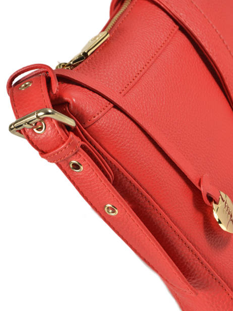 Leather Crossbody Bag Caviar Crinkles Red 80053 other view 1