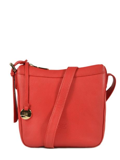 Leather Crossbody Bag Caviar Crinkles Red 80053