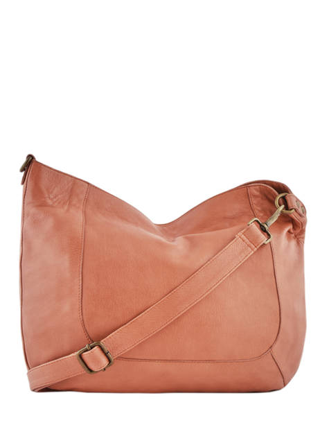 Shoulder Bag Studs Leather Basilic pepper Orange studs BSTU02 other view 3