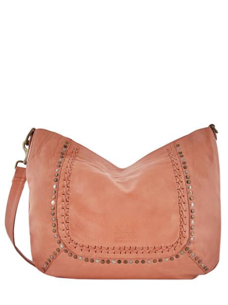 Shoulder Bag Studs Leather Basilic pepper Orange studs BSTU02