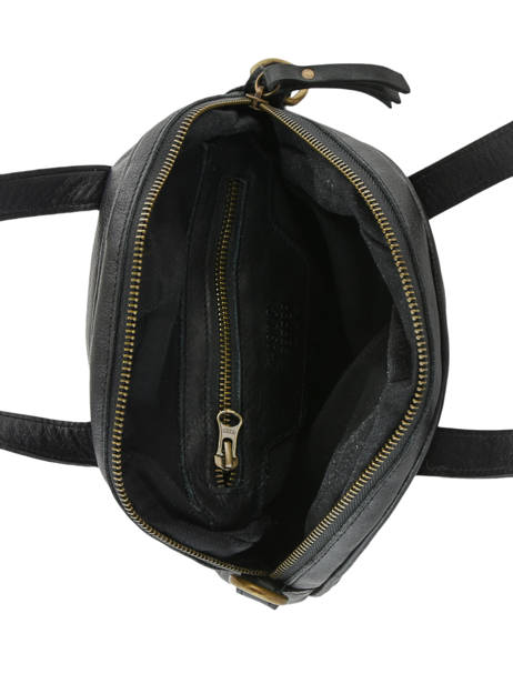 Leather Shoulder Bag Cow Basilic pepper Black cow BCOW23 other view 4
