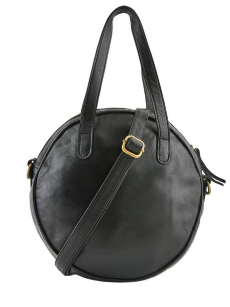 Leather Shoulder Bag Cow Basilic pepper Black cow BCOW23 other view 3