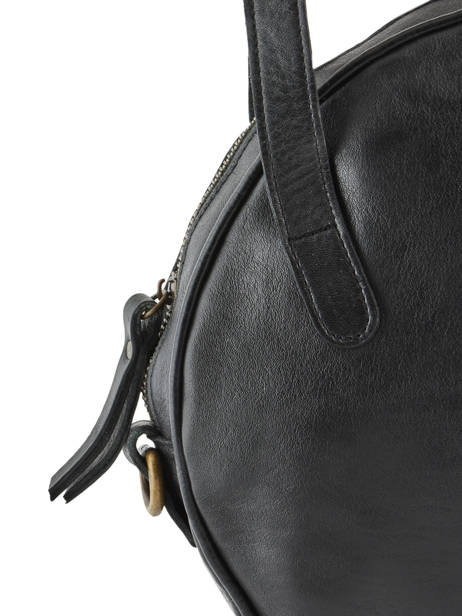Leather Shoulder Bag Cow Basilic pepper Black cow BCOW23 other view 1