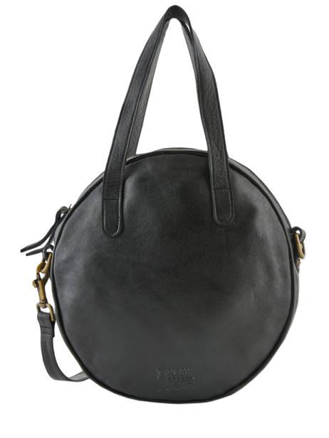 Leather Shoulder Bag Cow Basilic pepper Black cow BCOW23