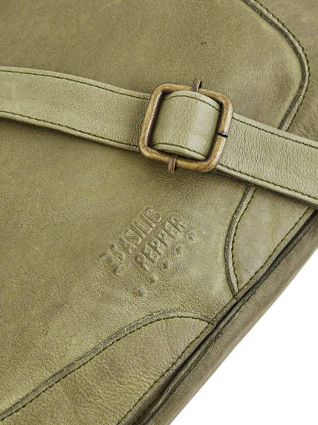 Shoulder Bag Cow Leather Basilic pepper Green cow BCOW15 other view 1